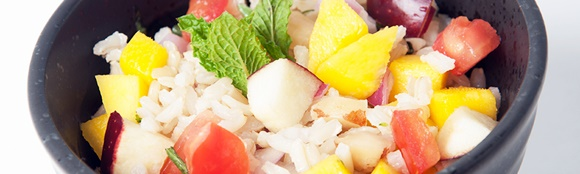Arroz Integral Con Frutas Y Hierbas Aromaticas