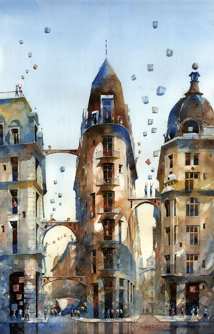 17-The-Dream-of-Warsaw-s-corner-Tytus-Brzozowski-Architecture-Meets-Watercolors-Paintings-in-Warsaw-www-designstack-co