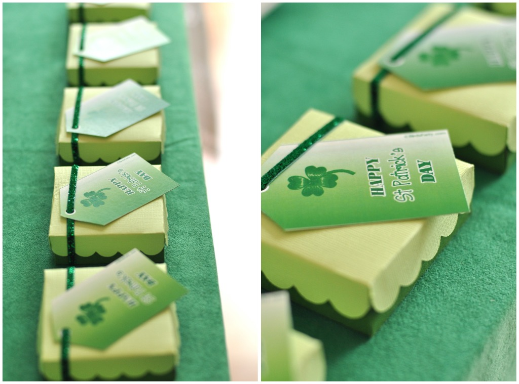 St Patrick's Day Rainbow Inspired Party Favors - via BirdsParty.com