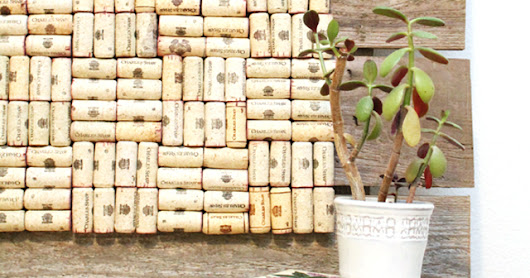 How to Recycle Used Wine Corks into a Rustic Bulletin Board