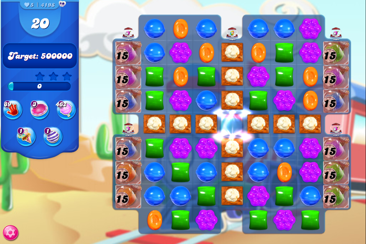 Candy Crush Saga level 4198