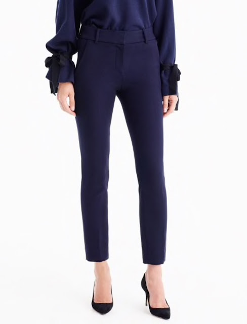 j crew cameron slim crop pant in four season stretch