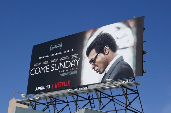 Come Sunday film billboard