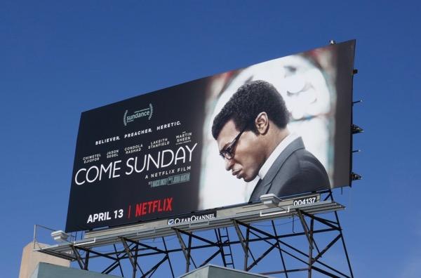 Come Sunday film billboard
