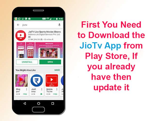 Download JioTv app