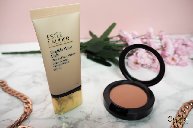 estee lauder double wear light MAC melba