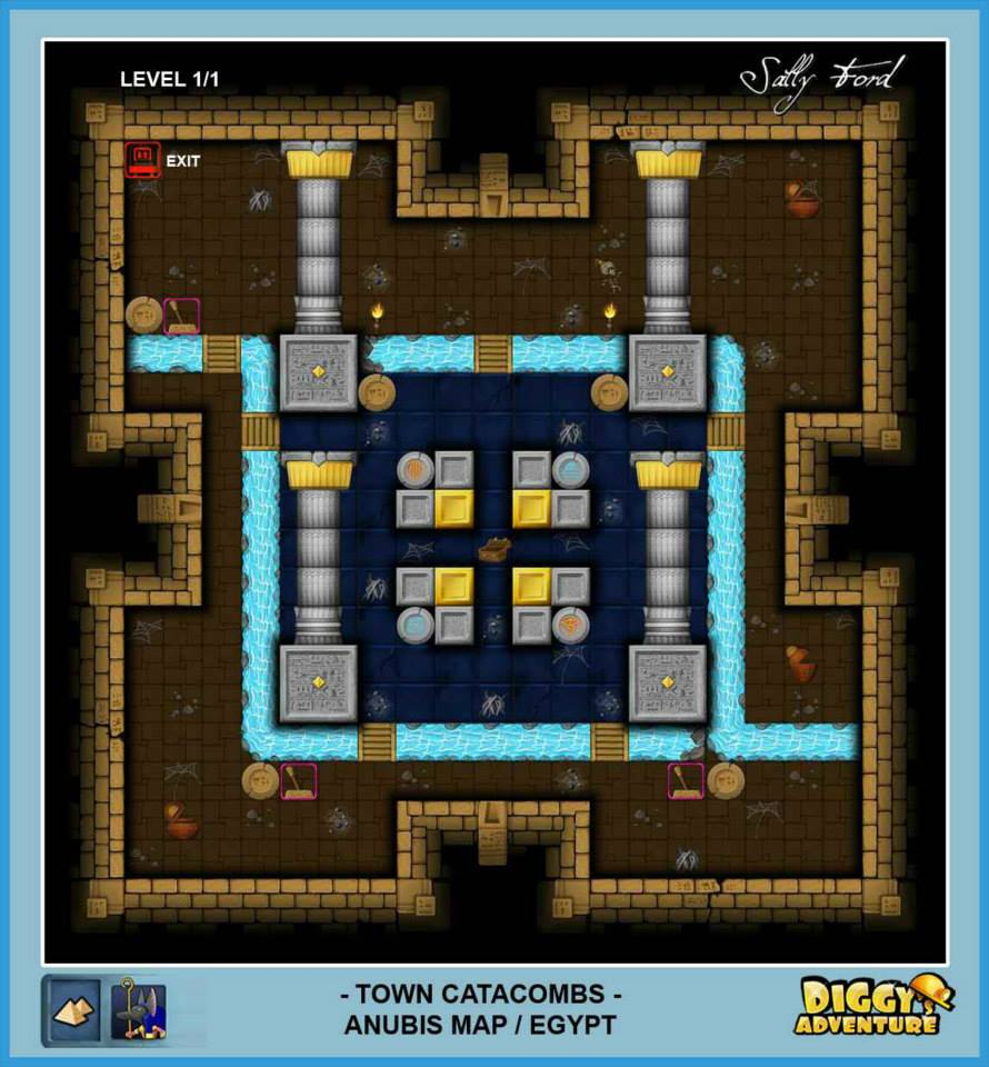Diggy's Adventure Walkthrough: Anubis Egypt Quests / Town Catacombs