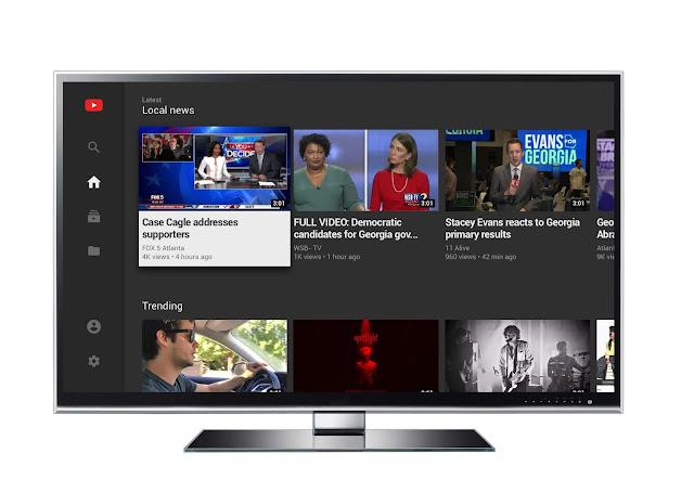 Ein TV mit YouTube