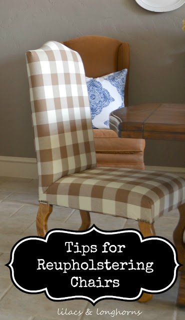 how do you reupholster dining room chairs | Tips for Re-Upholstering Dining Chairs - Lilacs and ...