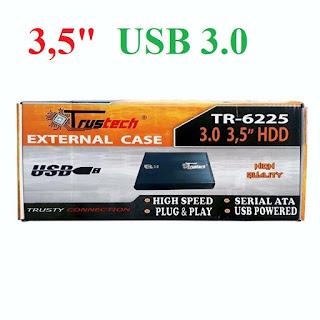 """box esterno 3.5"""" per hard disk usb 3.0 trustech 16225"""
