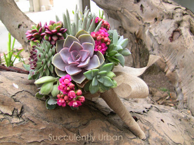 Wedding succulent bouquet, Succulent bridal bouquet, Bridal bouquet