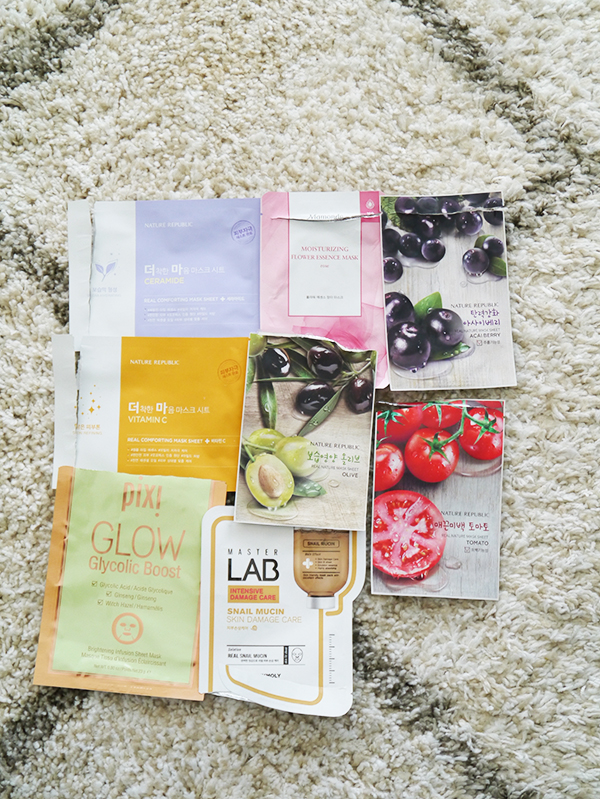 Empty sheet mask packets