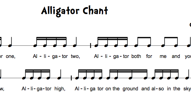 alligator chant