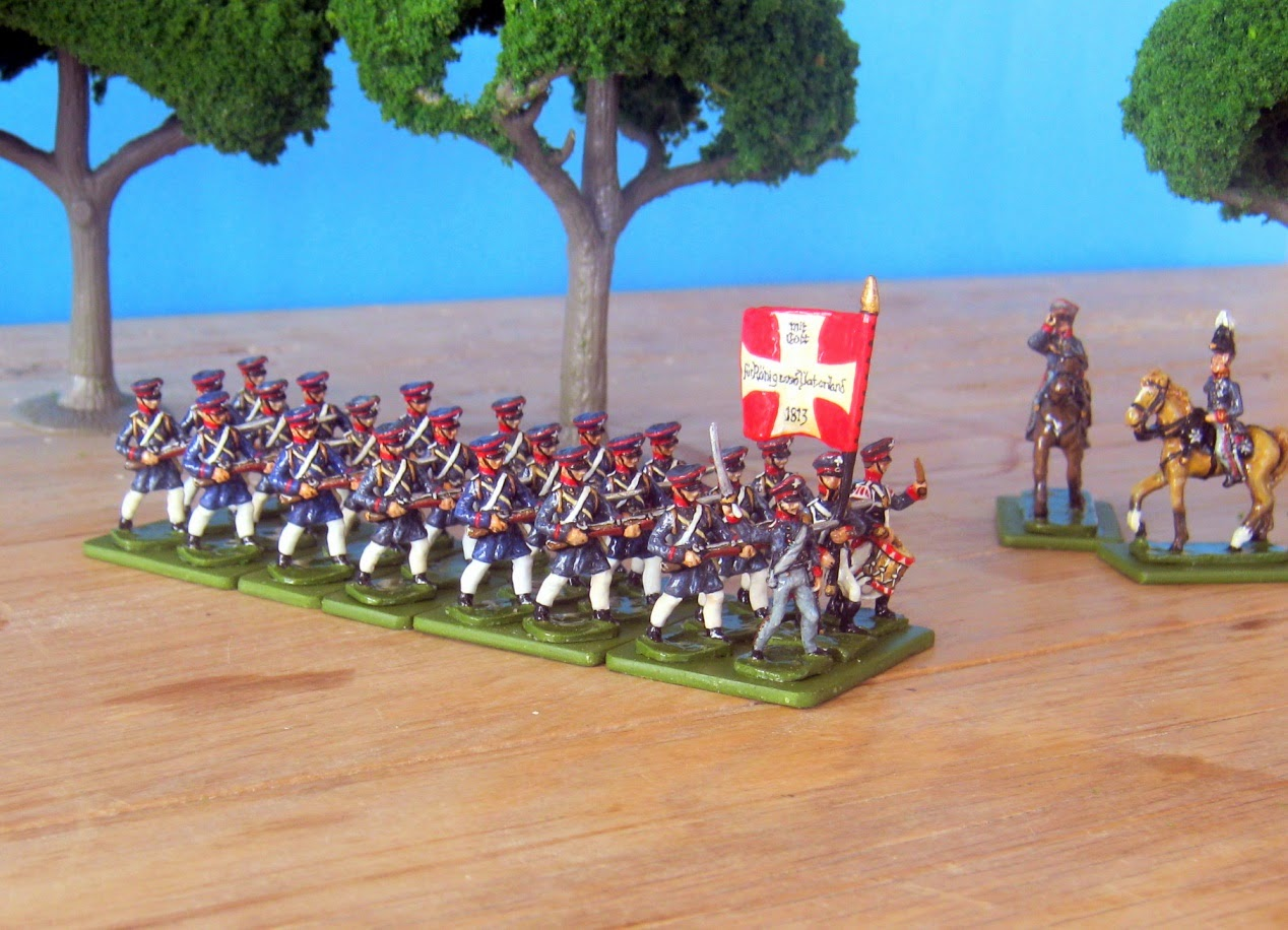 Hinton Hunt Prussian Landwehr Infanry Charging