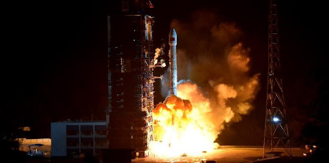 A Long March 3B carrier rocket carrying the ChinaSat-2C satellite blasts off from the Xichang Satellite Launch Center on Nov. 3, 2015. Photo Credit: Xinhua/Zhao Yingquan