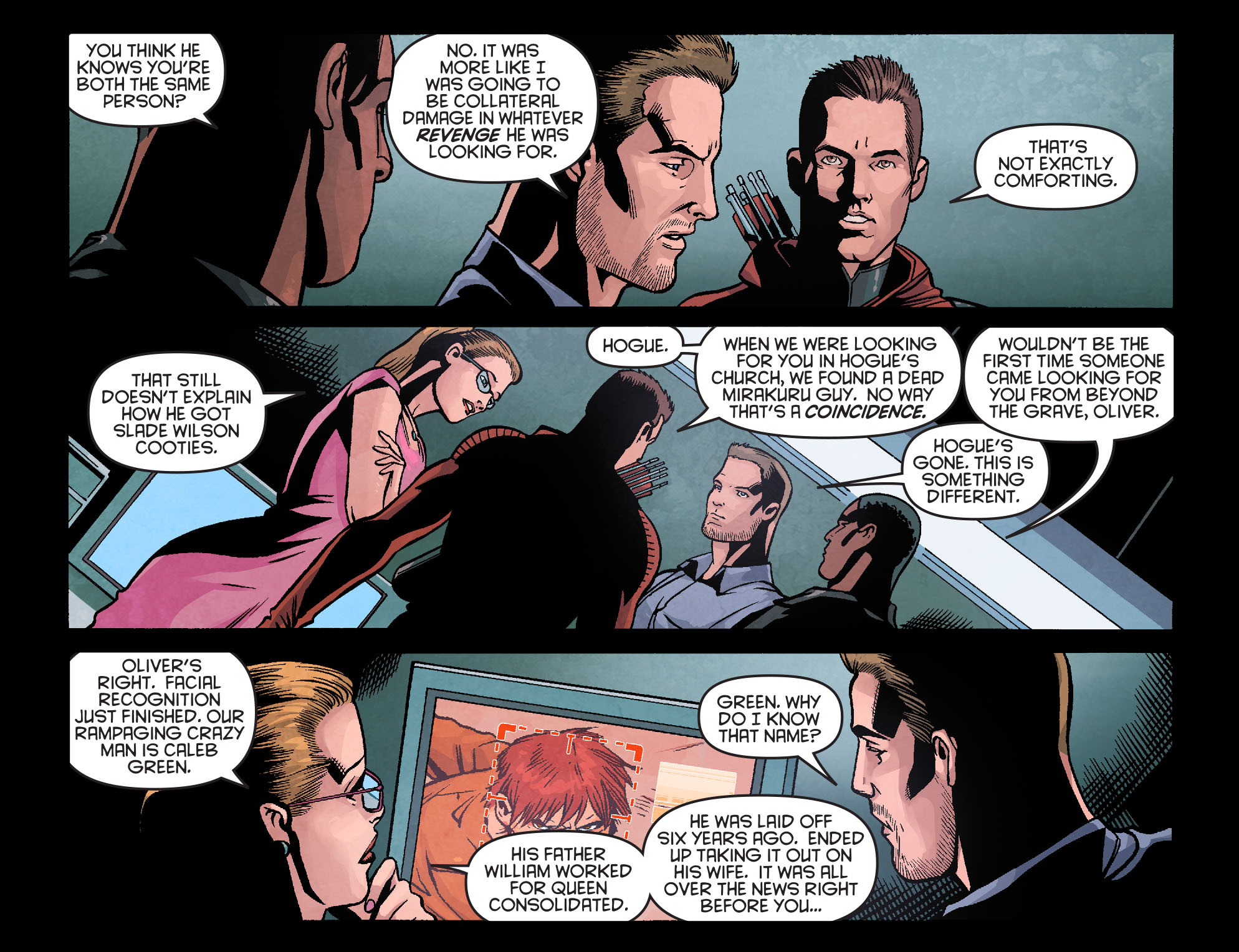 Read online Arrow: Season 2.5 [I] comic -  Issue #18 - 17