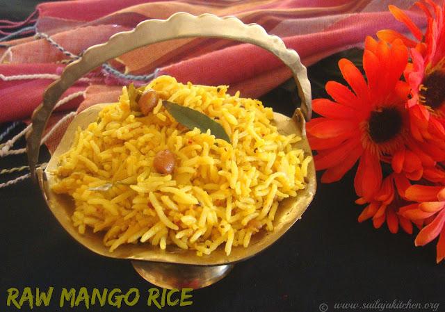 images of Mango Rice / Mangai Sadham / Manga Sadam / Mamidikaya Annam / Mavinakayi Chitranna - Easy Rice Recipe
