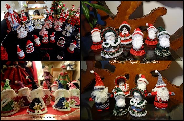 Figurines de Noël Marie Poupées