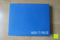 Vorderseite: High Pulse Balance Pad – Die gelenkschonende Koordinationsmatte zum Training von Gleichgewicht und Stabilität sowie zur Therapie nach Muskelverletzungen (Blau)