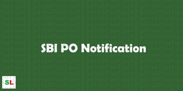 SBI PO Notification 2018