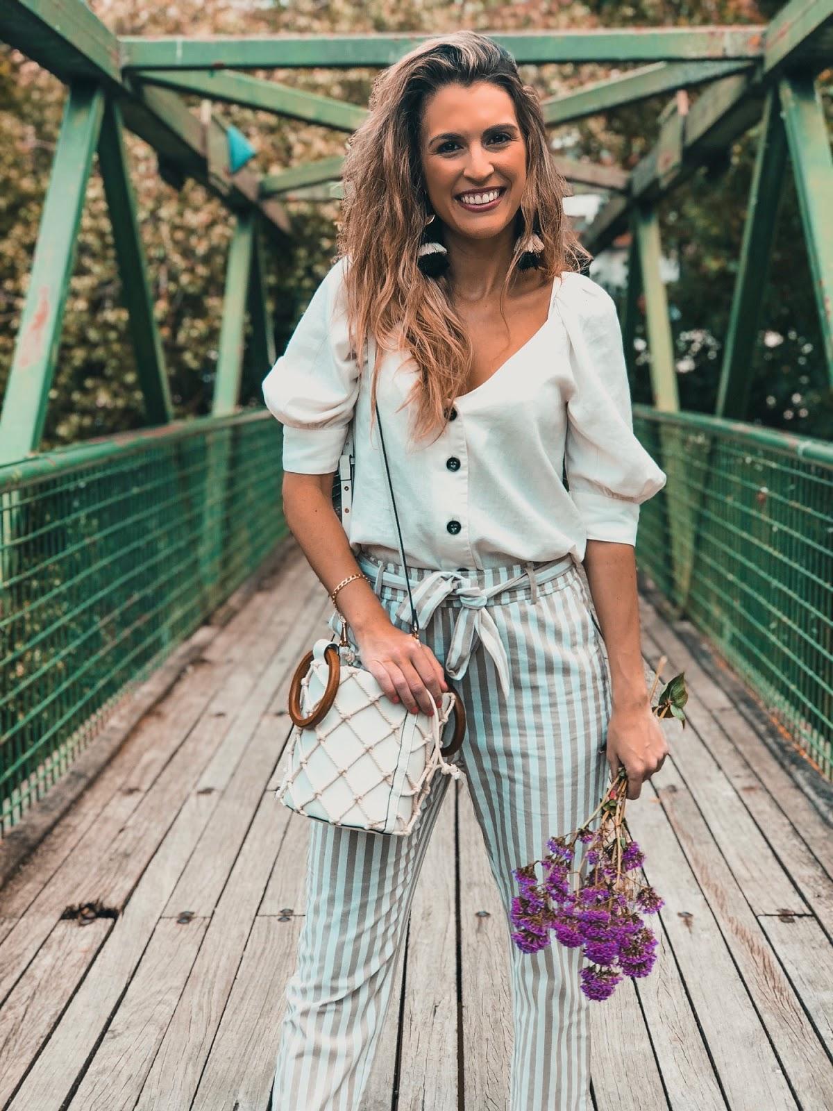 blusa de lino con botones