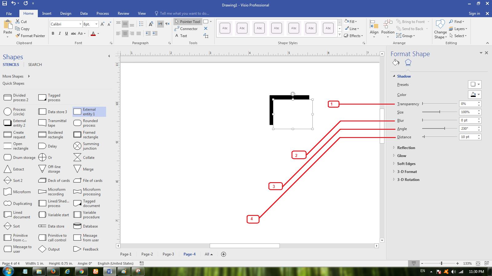 Cara membuat dfd data flow diagram pada microsoft visio 2017 mengatur shadow ccuart Gallery