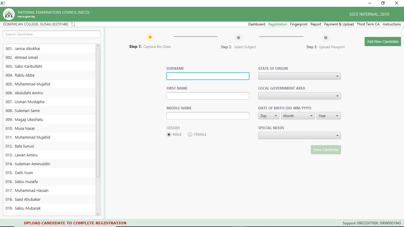 NECO SSCE, BECE Offline Registration Software Download Guide [PHOTOS]