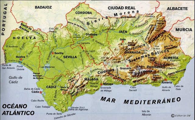 Cordillera Betica Mapa Fisico.Tus Ciencias Sociales 552 Geografia De Andalucia Paisaje
