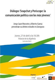Presentación en Zaragoza del ACOP Paper sobre Snapchat y Periscope