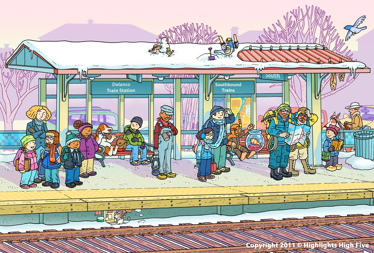 231 words short essay on Scene at a Railway Station for kids