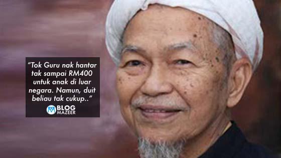"""Duit tak cukup…"" - Kisah Akaun Giro Almarhum Tok Guru Nik Aziz"