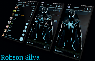 Black Spiderman Theme For GBWhatsApp By Robson