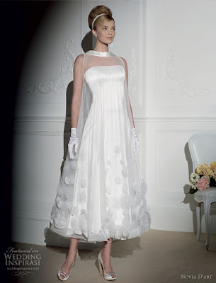 vestido noiva retro vintage midi anos 50 lindo simples