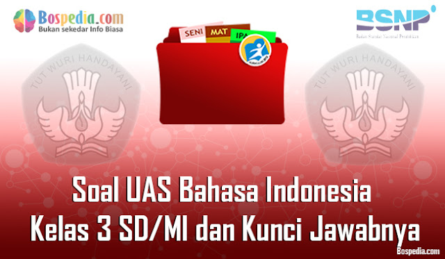 35+ Contoh Soal UAS Bahasa Indonesia Kelas 3 SD/MI dan Kunci Jawabnya Terbaru