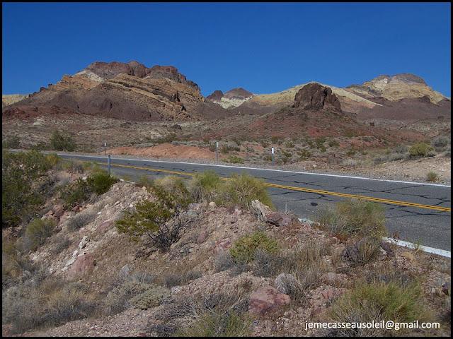 Route après la Vallée de la Mort
