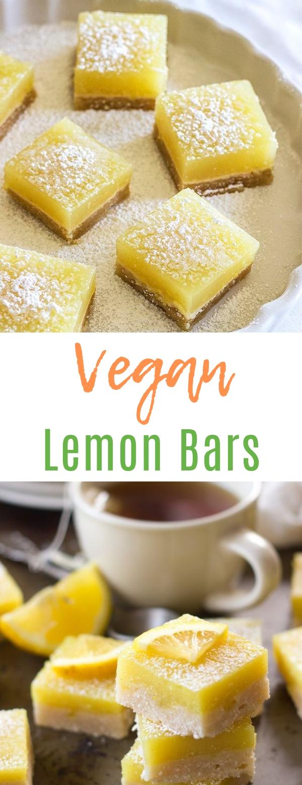 Vegan Lemon Bars #vegan #dessert