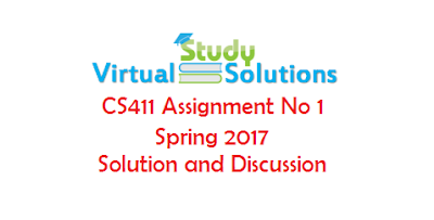 CS411 Assignment No 1 Solution and discussion Spring 2017