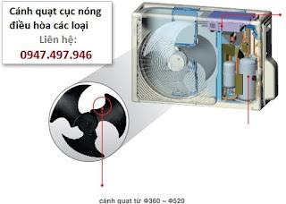 Bán cánh quạt dàn nóng điều hòa tại Hà Nội