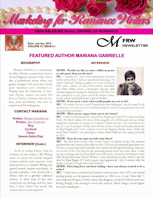 Creating a Newsletter—The First Page by Rochelle Weber, Newsletter Editor #MFRWorg