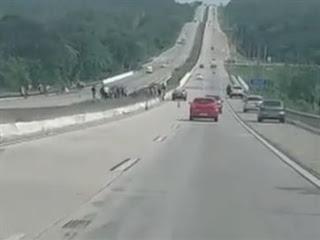 Motorista é arremessado de carro e fica ferido em acidente na BR-101, na PB
