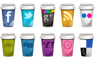 "Social Icons ""Takeout Coffee Cup"""