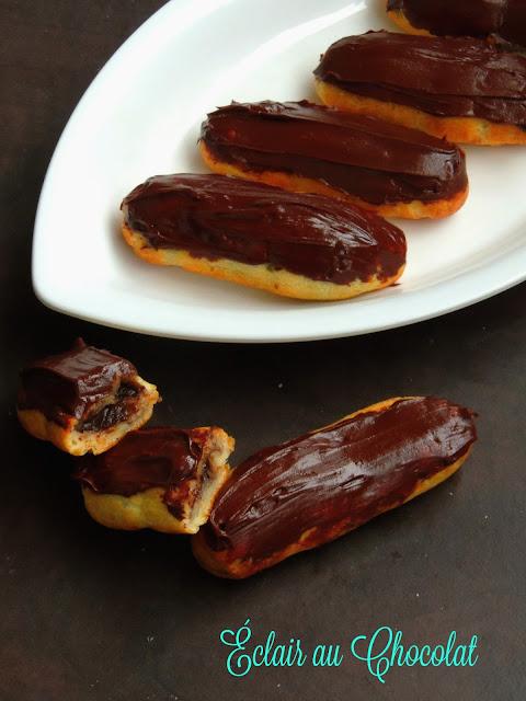 Éclair au Chocolat, Chocolate eclairs
