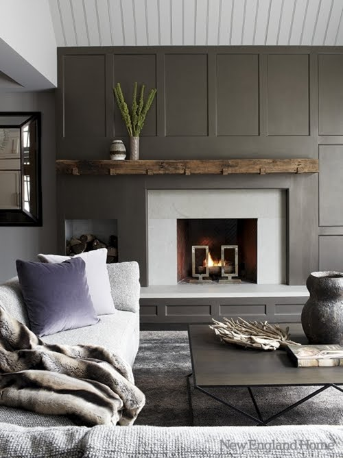 Amazing Gray Paneled Walls | Content in a Cottage