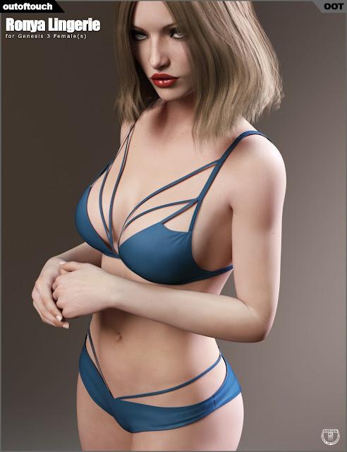Ronya Lingerie for Genesis 3 Female