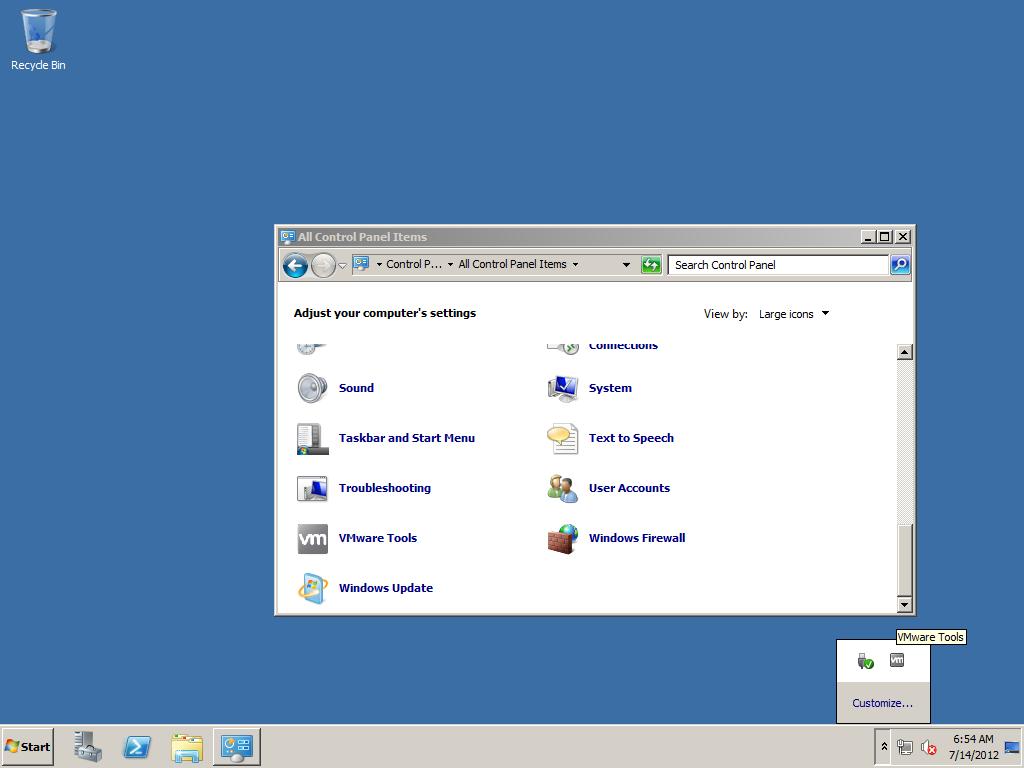 install vmware tools windows server 2012 core