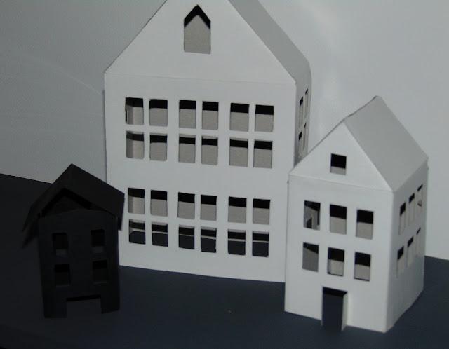 jak zrobić dekoracyjne domki z papieru DIY