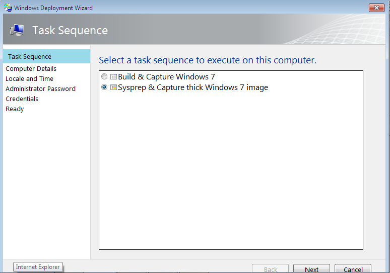 Gerry Hampson Device Management: Sysprep & Capture thick image