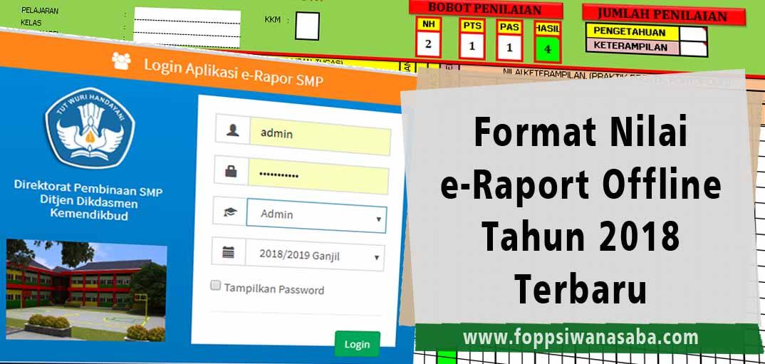 Download Format Nilai E Raport Offline Tahun 2018 Terbaru Foppsi Wanasaba