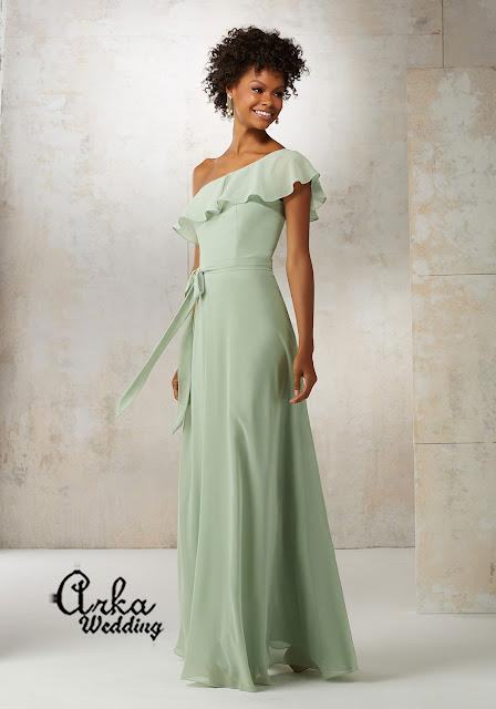 2ca0c983a50 ΝΥΦΙΚΑ ARKAWEDDING: Βραδινό Φόρεμα, Chiffon Αέρινο, Μακρύ, με ένα ...