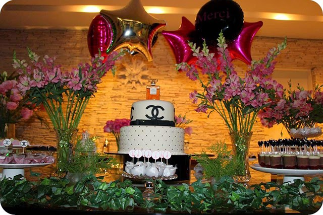 Decoração de Aniversário Chanel